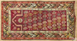 Caucasian prayer rug, ca. 1930