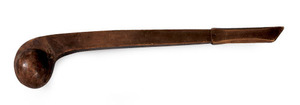 Native American carved war club, 19th c., 22