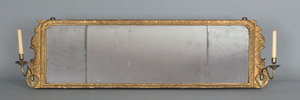 Georgian giltwood overmantle mirror, ca. 1770, wit