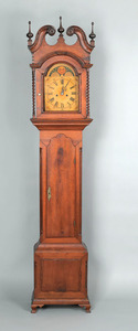 Pennsylvania Chippendale walnut tall case clock, c