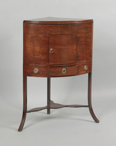 George III mahogany corner wash stand, ca. 1780, t