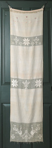 Pennsylvanialinen show towel dated 1811, inscribed