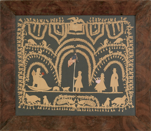 Pennsylvania scherenschnitte picture, 19th c., dep