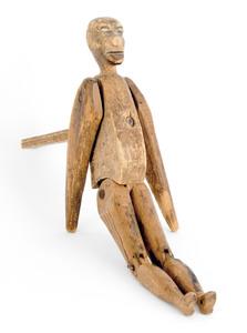 Articulated pine jigging figure, 19th c., 12