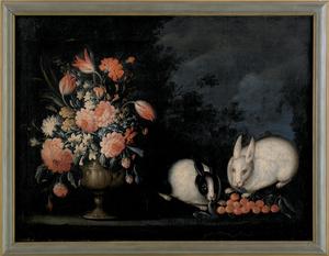 Dutch School, 18th c., oil on canvas still life wi