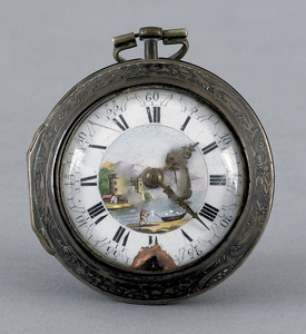 English keywind pocket watch, the works signed In