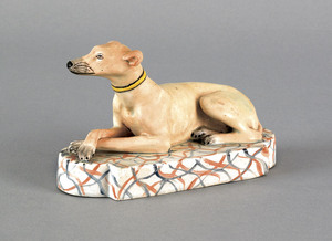English Staffordshire pearlware figure of a reclin