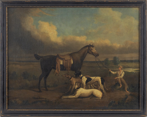 English school, 18th/19th c., oil on canvas of a h