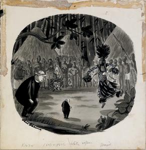 Charles Samuel Addams (American, 1912-1988), ink,a