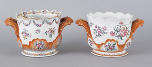 Two similar Chinese export porcelain famille rosea