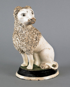 Staffordshire figure of a dog, early 19th c., with