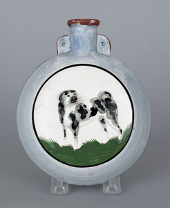 Staffordshire flask, 19th c., with double-sided re