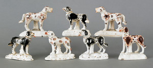 Two pair of Staffordshire dogs, 19th c., togetheri