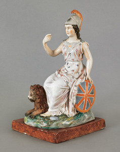Staffordshire figure of Britania, early 19th c., w