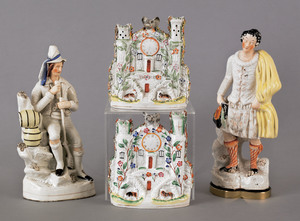 Two Staffordshire figures, 19th c., 14 1/2