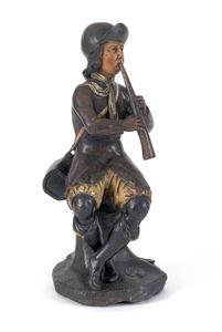 British carved and painted figure of a gentleman p