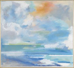 Hyde Solomon (American, 1911-1982), oil on canvasi
