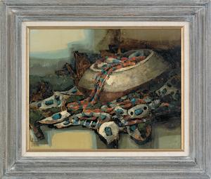 Lawrence Harris (American, 1936-), oil on panel ti