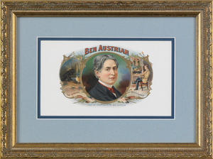Two Ben Austrian lithograph cigar labels, 5