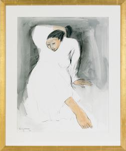 R.C. Gorman (American, 1932-2005), mixed media ona
