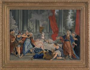 After Jean Francois de Troy, oil on canvas Haman S