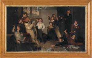 After Henry James Richter, oil on canvas titled Th