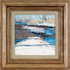 Len Chmiel (American, 1942-), oil on board titled