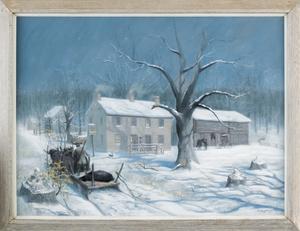 Barclay Rubincam (American, 1920-1978), pastel win