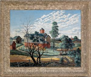 Grieg Horsep Chapian (American, 1913-1995), oil on