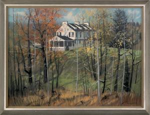 Barclay Rubincam (American, 1920-1978), pastel lan