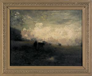 Arthur Parton (American, 1842-1914), oil on canvas
