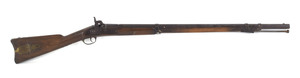 Two band percussion musket, .58 caliber, converted