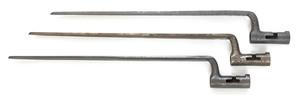 Three U.S. 1816 socket bayonets to include one Nat