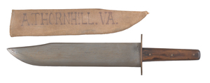 Boyle and Gamble bowie knife, with sheath stencile