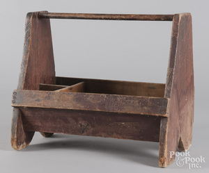 Pine tool carrier, 19th c.