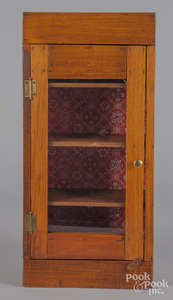 Pine hanging cabinet, ca. 1900.