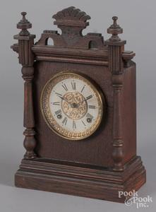Ansonia oak mantel clock.