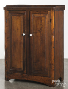Pine jelly cupboard, 19th c.