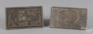 Two cast iron Bacon Presses