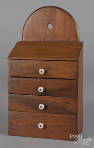 Pine hanging spice cabinet, ca. 1900.