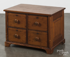 Pine four-drawer stand, late 19th c.