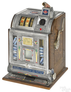 Jennings 5-cent trade stimulator slot machine