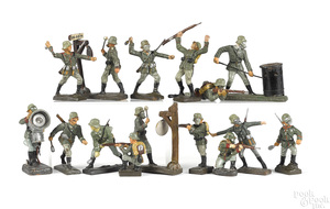 Lineol painted composition gas mask soldiers