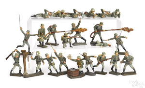 Lineol painted composition soldiers