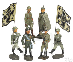 Lioneol painted composition personality soldiers