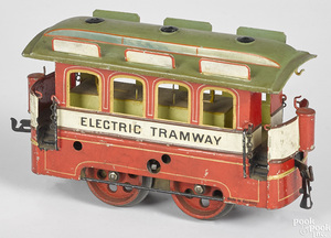 Scarce Marklin clockwork Electric Tramway trolley car