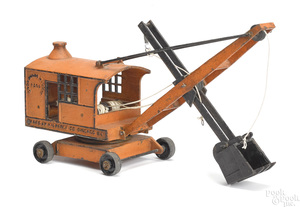 Rare Niederst Co., Chicago Ill. cast iron steam shovel