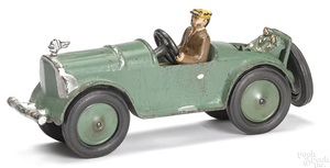 Globe Mfg. Co. cast iron open touring car with rumble seat