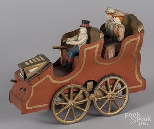 Painted tin hillclimber automobile