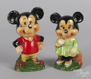 Mickey & Minnie Mouse squeak toys
